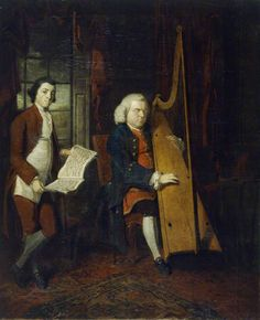 John Parry the Blind Harpist, with an Assistant, 1770, by William Parry. Like many conversation pieces, this work portrays a scene of music-making. The great harpist John Parry (c.1710–1782) was also a skilled organist and a distinctive composer. BBC - Your Paintings