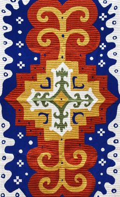 "Silk embroidered caucasian textiles - ""Kaitag"", Daghestan. Ethnic, tribal art, natural dyes."