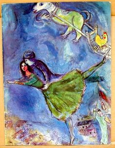 Marc Chagall, Life isn't about straight lines, it is dreamy, complex and intertwined. Chagall shows this beautifully in his dreamiest paintings. Marc Chagall, Artist Chagall, Chagall Paintings, Ballet Russe, Jewish Art, French Artists, Art Plastique, Famous Artists, Oeuvre D'art