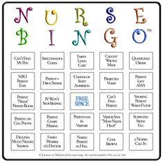 Emergency Room Bingo Google Search Games Pinterest