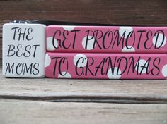 Mothers Day Blocks Gift Grandma Papa Nana by DaisyBlossomCreation, $13.99