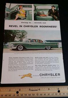 1950s Chrysler magazine ad vintage car Old slot 8