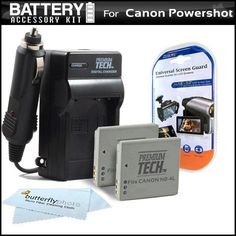 2 Pack Battery And Charger Kit For Canon PowerShot ELPH 330 HS, ELPH 300 HS ELPH 100 HS Digital Camera Includes 2 Extended (900 Mah) Replacement Batteries For Canon NB-4L + AC / DC Rapid Travel Charger + LCD Screen Protectors + MicroFiber Cleaning Cloth - http://yourperfectcamera.com/2-pack-battery-and-charger-kit-for-canon-powershot-elph-330-hs-elph-300-hs-elph-100-hs-digital-camera-includes-2-extended-900-mah-replacement-batteries-for-canon-nb-4l-ac-dc-rapid-travel-charge/