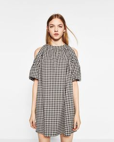 Image 2 of FULL GINGHAM CHECK DRESS from Zara