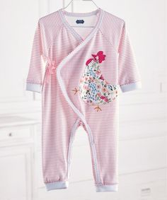 Another great find on #zulily! Pink Stripe Chicken Playsuit - Infant #zulilyfinds