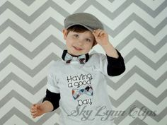 Good Bow Tie Day Short Sleeved Baby Toddler Boy by SkyLynnClips, $22.00