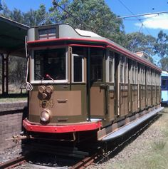 """Another nice example of a tram. Original description: """"L/P 154 Built in 1900 by Clyde Engineering as an F class car."""""""