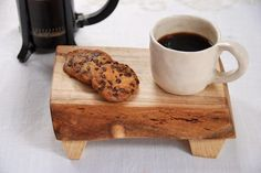Mini cafe cutting board in spalted maple by grayworkdesign