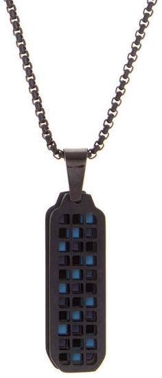 """Ben Sherman Stainless Steel Checkerboard Pendant Necklace #necklace #bensherman #jewellery #fashion   Half Price!!! For more details click """"Visit"""" or the image"""