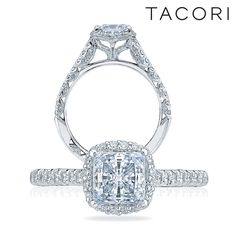 Beauty from every angle. Tacori engagement ring, Petite Crescent Collection.