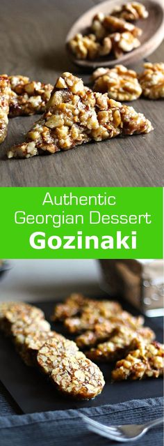 Gozinaki, a nougat made from nuts and honey, is a Georgian treat traditionally made for Christmas and New Year. #dessert #vegetarian                                                                                                                                                                                 More