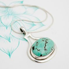 Turquoise and Silver Oval Pendant Charlotte's Web, Oval Pendant, Winter Season, Turquoise, Jewellery, Earrings, Silver, Stuff To Buy, Winter Time