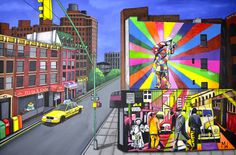 Maximillist Art (NYC Collection) - Kobra visitis Chelsea- Street Artist Eduardo Kobra brings bold colours to Chelsea NYC by recreating the iconic kiss on times square by Alfred Eisenstaedt & scenes from old world times square.  #maximillist #maximillistart #streetartnyc #streetartistkobra #eduardokobra #kobrabrazil #chelseanyc #streetartchelseanyc #ilovenyc #naiveart