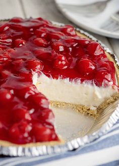 Grandmama's Cherry Cream Cheese Pie – Southern Plate – dessert Cheesecake Desserts, Pie Dessert, No Bake Desserts, Easy Desserts, Delicious Desserts, Dessert Recipes, Yummy Food, No Bake Cherry Cheesecake, Healthy Cheesecake