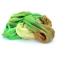 Hand dyed 4ply yarn, superwash merino tencel sock wool, handdyed fingering Green Apples, brown cream green, Perran Yarns uk, yarn skein