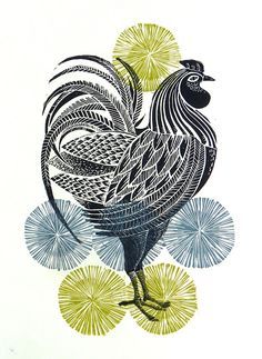 Linocuts by Amanda Colville