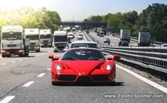 Ferrari Enzo spotted in A6 (Milan), Italy