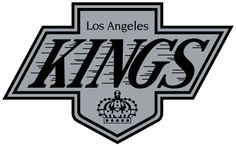 LA Kings logo used from 1988/89 - 1997/98, slightly resembling the above logo. The word mark briefly returned on the black helmets from 2008–13, and on the white helmets from 2011–13.