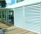 Colorbond steel carport screen with slats project board for Garage ad biard