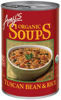 AMY'S: Organic Soup Tuscan Bean and Rice, 14.1 oz