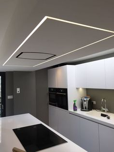 Skylight And Light Well With LED Strips Hidden Along The Two Long - Led tube lights for kitchen ceiling