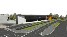 An artist's impression of  the exterior of The Royal Mint Visitor Centre, planned to open in 2015.  http://www.royalmint.com/pre-register/the-royal-mint-visitor-centre