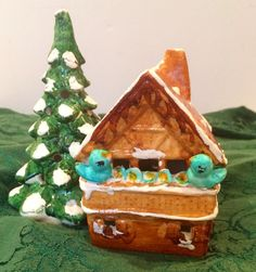 Dept 56 SNOW VILLAGE LIGHTED HOUSE SMALL GINGERBREAD CHALET 1976 ONE ORIGINAL 6