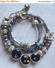 ON SALE gemstone bracelet iolite bracelet mutli by soulfuledges