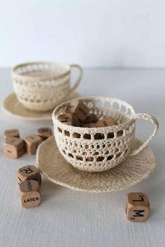 Crochet P Xicaras De Cafe