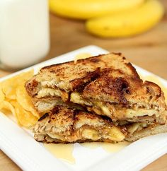 Peanut Butter, Banana and Honey Sandwich via @Barb | Creative Culinary // #Banana #Recipe