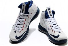 huge discount e4c30 983b3 Nike Basketball Lebron 10 Shoes White Navy Gold 541100 001 Lebron Shoes For  Sale, Running