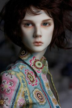 Dollshe Saint boy with a faceup by SDink.  Doesn't he just take your breath away? Ball Jointed Doll (BJD)