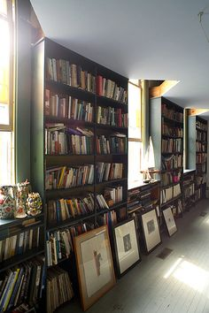Wall of books in my converted church