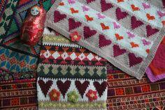 Knitting swatches from the studio www.sashakagan.co.uk