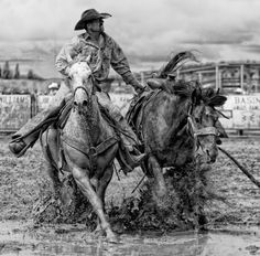 Photographer: Bev Pettit  Country: USA    Title: Bronc Pickup    Caption: Pick Up Man at Ranch Rodeo in Arizona