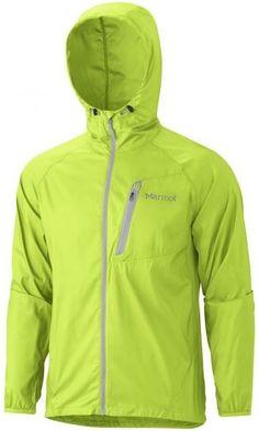 Marmot Trail Wind Hoody Green Lime Man. Chaqueta cortavientos, resistente al agua, ventilada, reflectiva y ultraligera (137 gr.)