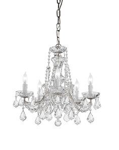 Crystorama Maria Theresa Chandelier Draped in Clear Cut Crystal 5 Lights - Polished Chrome - 4476-CH-CL-MWP