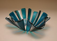 Turquoise and clear glass. gorgeous