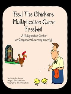 """FREE! You don't have to like chickens to love this fun game! This freebie multiplication game for two students is quick and easy to play, making it perfect for classroom multiplication fact review. It's perfect for centers and cooperative learning. All multiplication cards are included with the game. Object of the game is to earn enough """"chicken food"""" cards to feed the chickens and win the game! Only the correct answers to the multiplication questions can earn the cards!"""