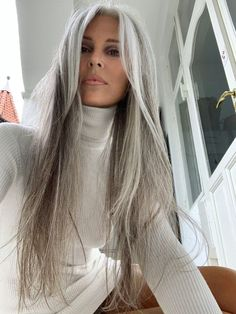 Grey Hair Wig, Long Gray Hair, Silver Grey Hair, Lace Hair, Grey Hair Over 50, Gray Hair Women, Dyed Gray Hair, Black Women, Frontal Hairstyles