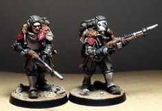 Inquisitor 28mm conversions from Solar Auxilia models