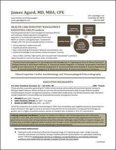 Cover Letter Example   Agricultural Industry Executive. See More. Healthcare  CEO Resume Example