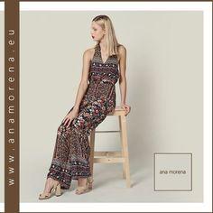 Ana morena,s glam mono is revamped with a stunning print. www.anamorena.eu