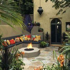 beautiful side yard and backyard gravel garden design ideas 13 « Home Design Modern Backyard, Backyard Patio, Backyard Landscaping, Landscaping Ideas, Backyard Ideas, Rustic Mexican Furniture, Mexican Patio, Mexican Interior Design, Outdoor Rooms