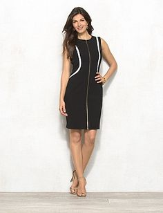 Zip Front Sheath Dress