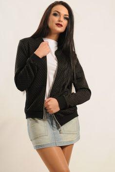 Бомбер жіночий «Річі» чорного кольору Blazer, Sweaters, Jackets, Women, Fashion, Down Jackets, Moda, Fashion Styles, Blazers