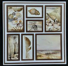 Beach Cards, Vand, Marianne Design, Scrap, Layout, Frame, Decor, Cards, Stencils