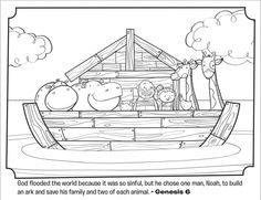 Kids Coloring Page From Whats In The Bible Featuring Noahs Ark Genesis 6