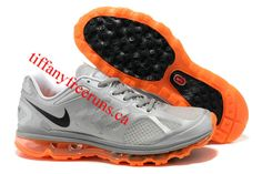 Mens Nike Air Max 2012 Metallic Silver Black Total Orange Shoes