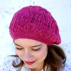 7258683c768 INSTANT DOWNLOAD PDF Knitting Pattern for Women s Lace Beret